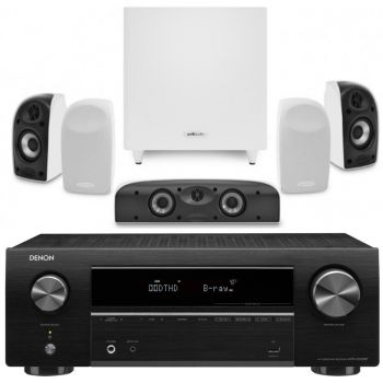 Denon Equipo AV AVR-X550 BT+ Polk TL1700 Altavoces Home Cinema.
