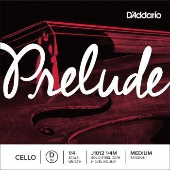 D´addario J1012 Cuerda para Violonchelo Prelude Re (D), 1/4 tensión media
