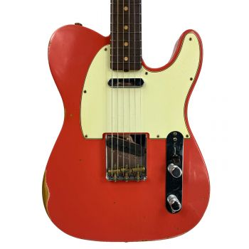Fender Custom Shop Limited Edition 63 Telecaster RW Faded Fiesta Red Relic