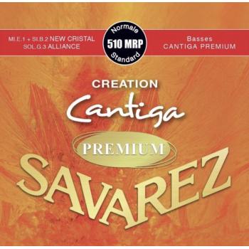 Savarez 510-MRP Creation Cantiga Premium Roja Clasica Cuerdas Para Guitarra Tensión Media
