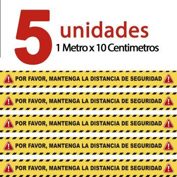 Kit de 5 Vinilos Antideslizantes Suelo 10 Cm X100 Cm. Certificado R9