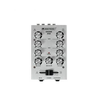 Omnitronic GNOME-202 Silver Mini Mezclador Plateado