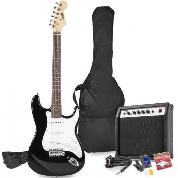 max Gig Kit Guitarra Eléctrica Negro con Amplificador 173223
