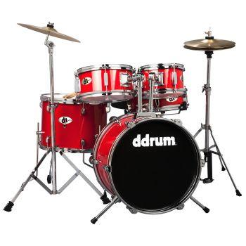 Ddrum D1 JR CANDY RED COMPLETE KIT (5P) Set de Batería Acústica D1-CRD