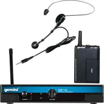 GEMINI UHF-116HL Micrófono inalámbrico Lavalier Headset  con pll