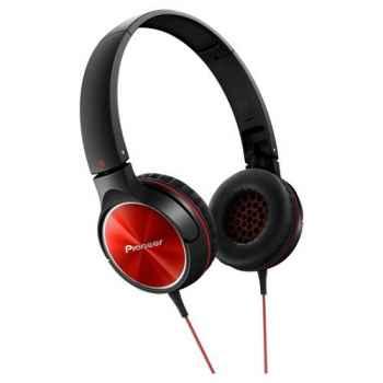 PIONEER SE-MJ522-R Auriculares Cerrados Rojos