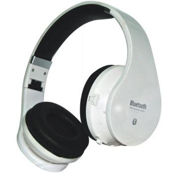 Auriculares GAM-1580 Bluetooth con Radio FM y MicroSD Blanco