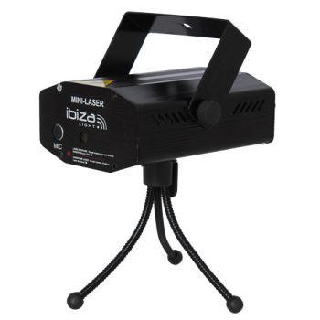 Ibiza Light LAS-S130RG Multi Mini Laser Firefly 130mW Red+Green+Black
