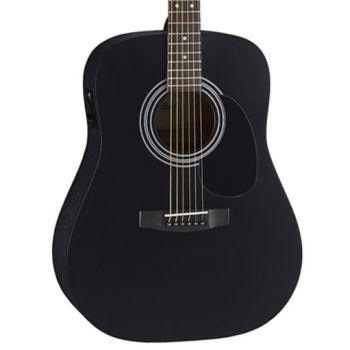 Cort AD810E-BKS Guitarra Acústica Electrificada Black Satin