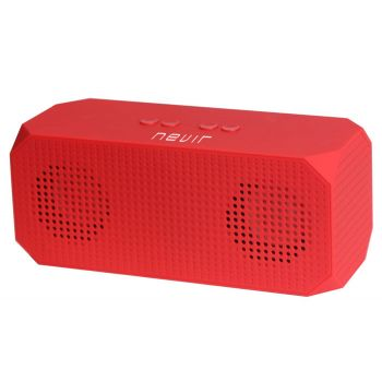 NEVIR 821B Altavoz Bluetooth Compacto Rojo