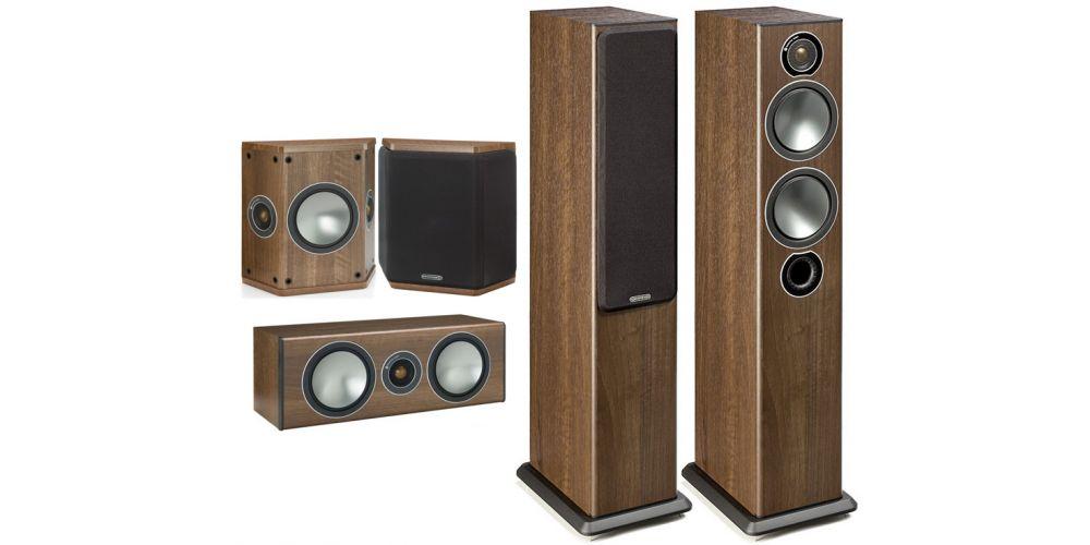monitor audio bronze 5 AV walnut bronze5 bronze centre bronzeFx