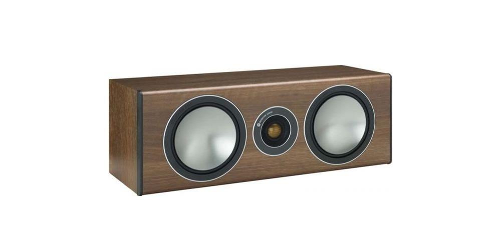 monitor audio bronze centre walnut