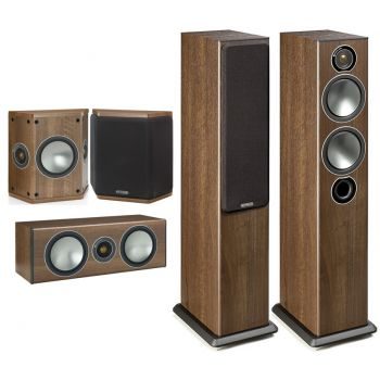 MONITOR AUDIO Bronze 5-AV Walnut , Kit  BRONZE B5 + BRONZECENTER + BRONZE FX