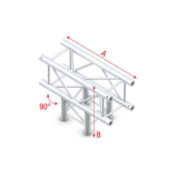 Showtec T-Cross 3-way Cruce Cuadrado 3 Direcciones para Truss GQ30017