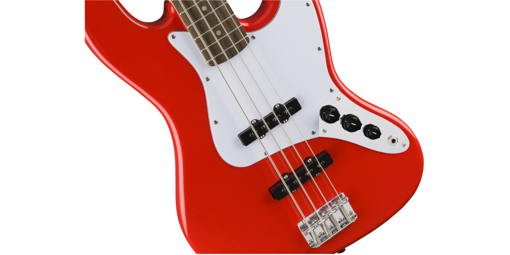 fender squier affinity jazz bass race red golpeador
