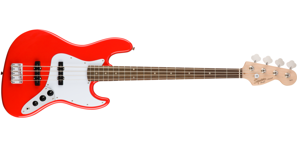 fender squier affinity jazz bass race red lrl
