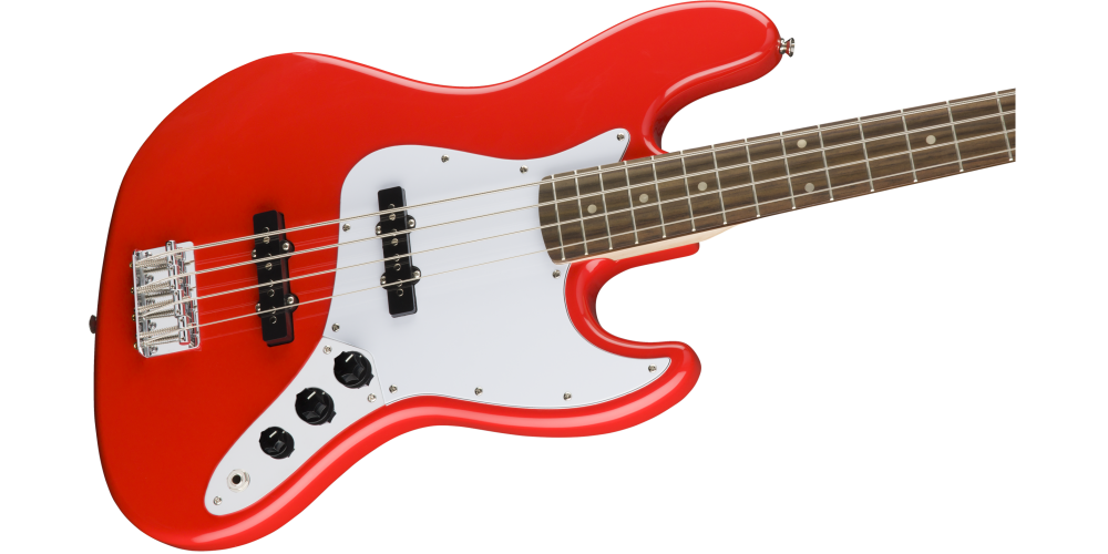 fender squier affinity jazz bass race red pastilla