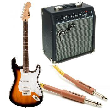 Fender Squier Bullet Stratocaster RW Sunburst + Frontman 10G + cable