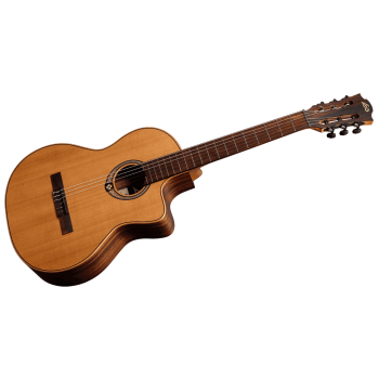 LAG OC170CE Guitarra Clásica Electrificada Tipo Auditorium con Cutaway  Serie Occitania