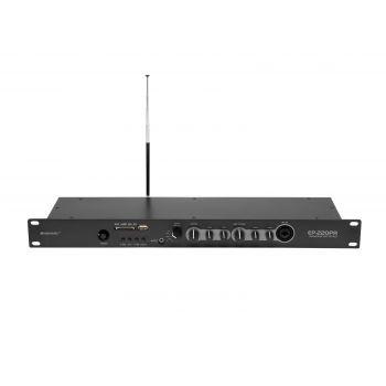 Omnitronic EP-220PR Preamplificador con Reproductor MP3 y Radio FM