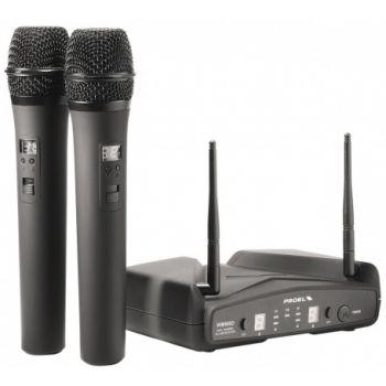 Proel WM600DM Microfono Inalambrico Doble de Mano