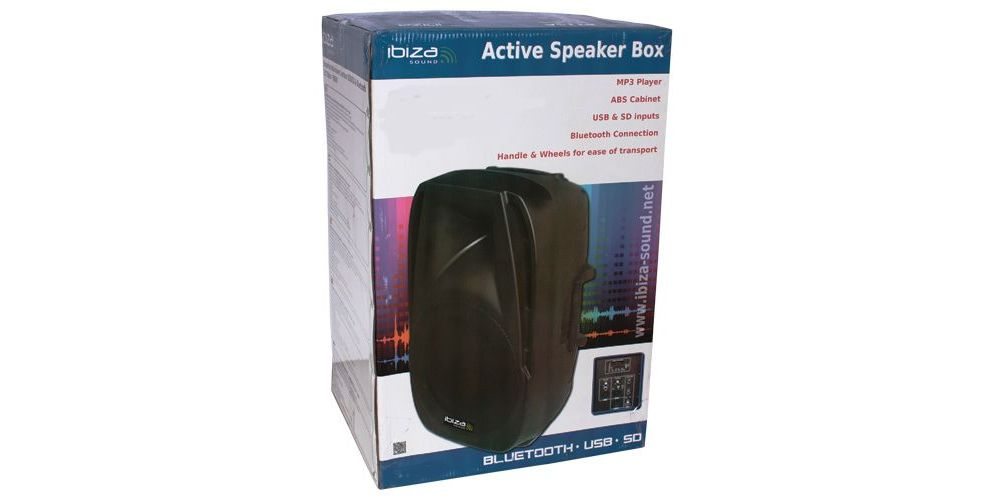 altavoz activo ibiza sound bt15a embalaje