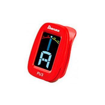 Ibanez PU3-RD Afinador cromático Rojo De clip