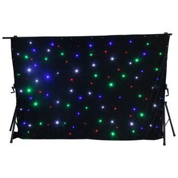 BEAM 151200 Cortina de estrellas LED96 RGBW 3x 2m
