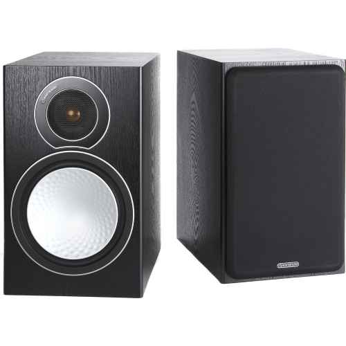 monitor audio silver 2 par de bafles de estante black oak