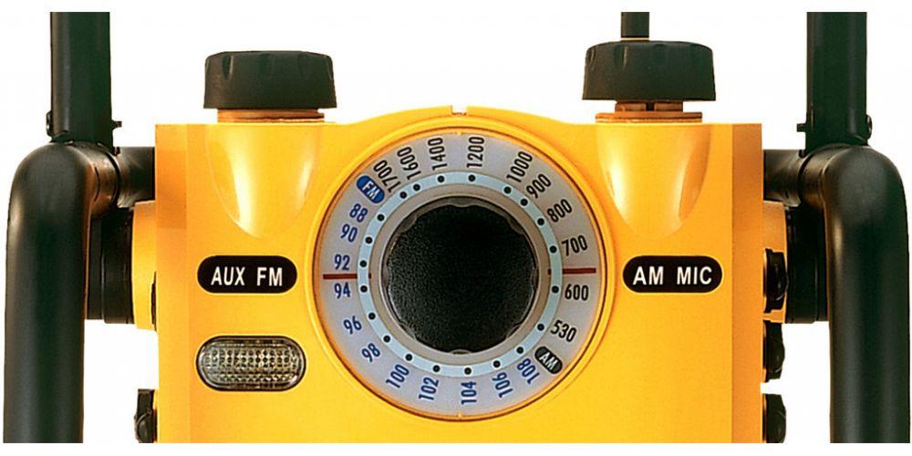 sangean u1 radio trabajo robusta resistente agua detalle mandos