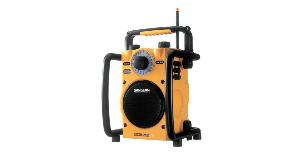 sangean u1 radio trabajo robusta resistente agua tapa cable amarillo