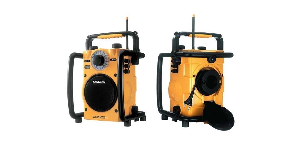 sangean u1 radio trabajo robusta resistente agua tapa cable