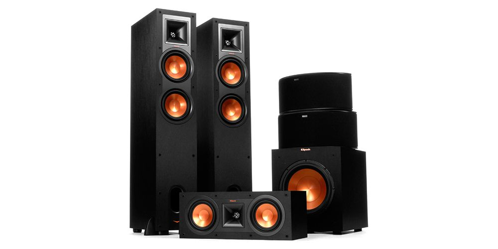 klipsch R 26F II+ Canal central R 25C II + 2 Altavoces Surround R 14S II + Subwoofer R 10SW