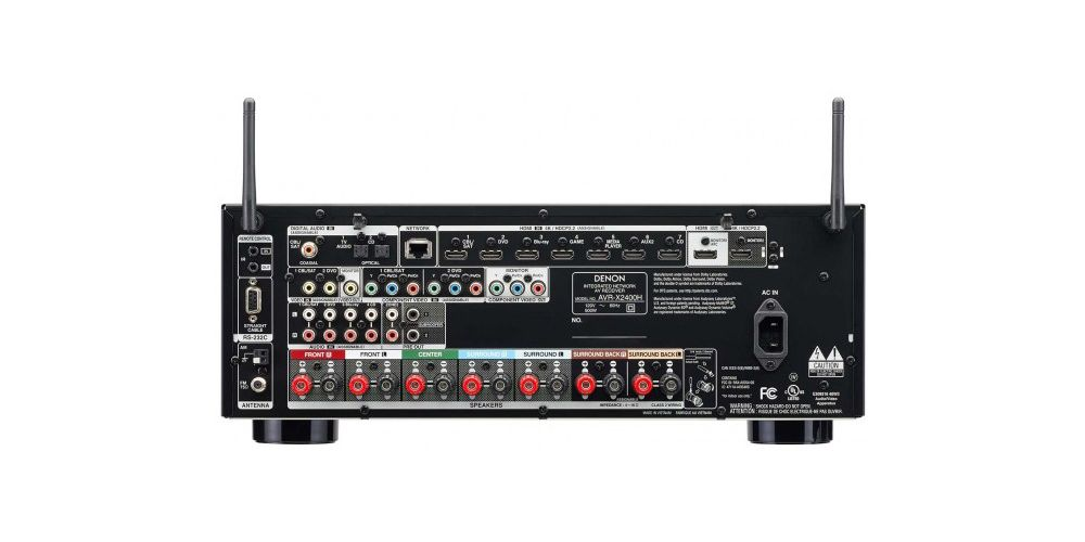 denon avrx1400h 7 2ch av receiver rear conexiones