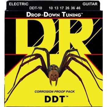 Dr Strings DDT-10 DROP-DOWN TUNING™ Nickle Plated Electric 010-046