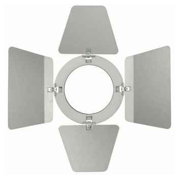 Showtec Barndoor for Compact Studio Beam Visera Plateada para Foco 30694