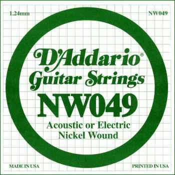 D´addario NW049 Cuerda Suelta para Guitarra Eléctrica