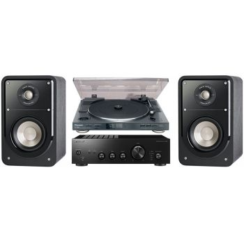 Pioneer A-10AEK+PL990+Polk Audio S-15BK Conjunto Audio
