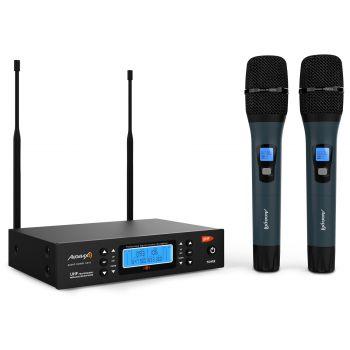Audibax Sidney U310 Doble Micro mano UHF con Frecuencia seleccionable