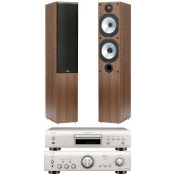 Denon PMA-800AE Silver +DCD800 silver+MR4 walnut Conjunto sonido