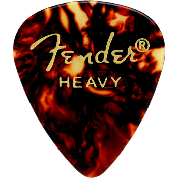 Fender 351 Shape Premium Picks Heavy Tortoise Shell  Pack 12