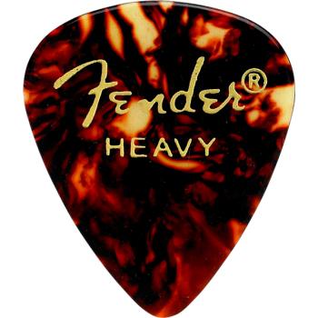 Fender 351 Shape Premium Picks Heavy Tortoise Shell  Pack 12