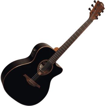 LAG T118ACE-BLK Guitarra Electro Acústica Tipo Auditorium con Cutaway Serie Tramontane Color Negro