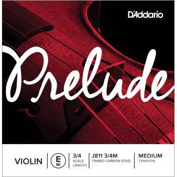 D´addario J811 Cuerda Prelude Mi (E) para violin 3/4, tensión media