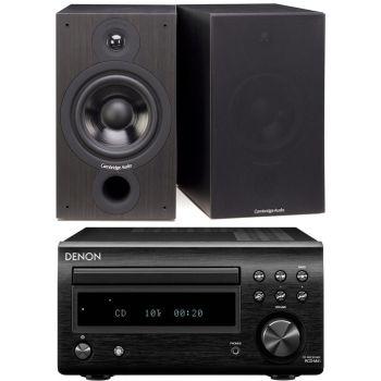 DENON RCDM-41 Negra + Cambridge Audio SX-60 Black