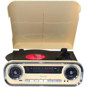 Lauson 01TT15 Tocadiscos Vintage Beige Bluetooth Encoding FM USB