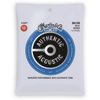 Martin MA190 Cuerdas Guitarra Acústica Authentic Sp 12st Bronze 80/20 Light 12-54
