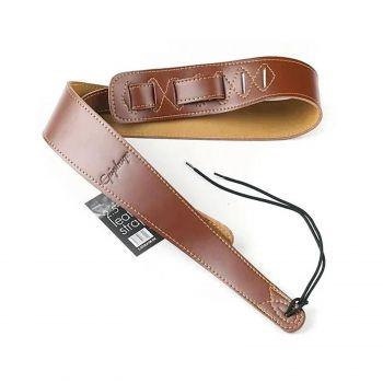 Epiphone AEST-BRN Premium Leather Brown Correa Troubadour para Guitarra