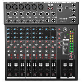 Audibax 1202 FFX Mesa Mezclas 12 canales y USB
