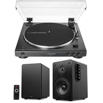 Equipo HiFi Audio Technica LP60XBT Giradiscos Bluetooth + Audibax Beta 1BT Altavoces Activos Bluetooth